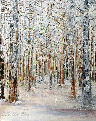 Painting - Wintry Woods by Michele A Loftus