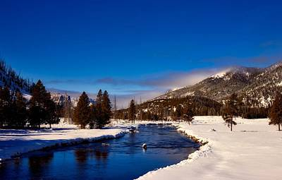 Photograph - Wintry Yellowstone River by L O C
