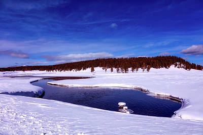 Photograph - Wintry Yellowstone River by Loc