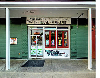 Digital Art - Wintzells Front Door In Mobile Alabama by Michael Thomas