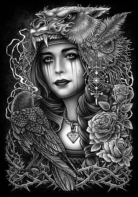 Victorian Death Digital Art - Winya No. 93 by Winya Sangsorn