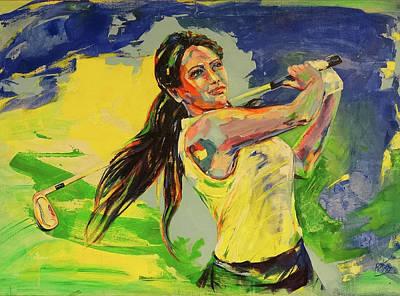 Painting - Wird Es Das Grun Erreichen  Will It Reach The Green by Koro Arandia