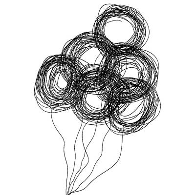 Drawing - Wire Balloons by Bill Owen