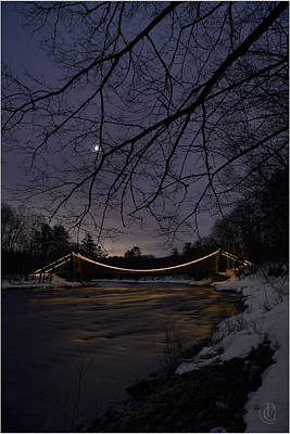 Photograph - Wire Bridge Moon by Patrick Groleau