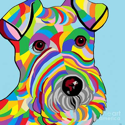 Animals Digital Art - Wire Fox Terrier by Eloise Schneider