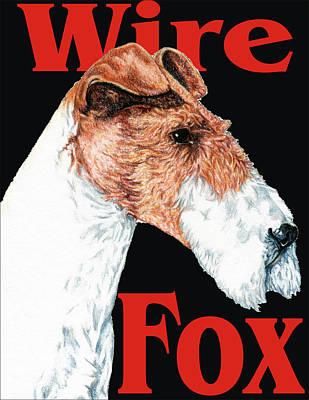 Fox Terrier Puppy Digital Art - Wire Fox Terrier by Kathleen Sepulveda