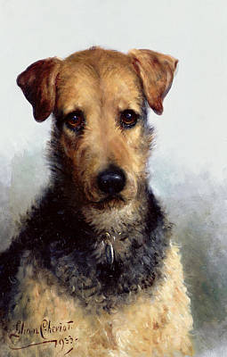Wire Fox Terrier Art Print by Lilian Cheviot