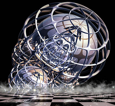 Digital Art - Wire Frame Fractal by Melissa Messick