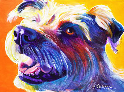 Wire Hair Terrier - Penny Art Print by Alicia VanNoy Call