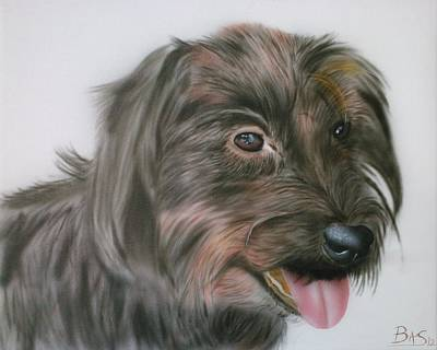 Painting - Wire Haired Dachshund by Bas Hollander