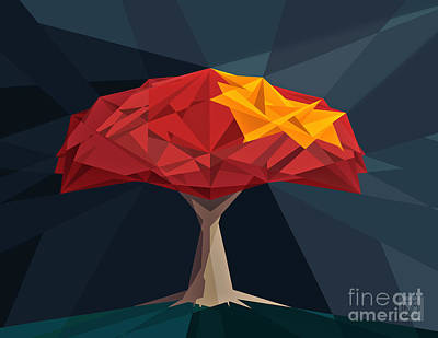Wired Tree  Art Print