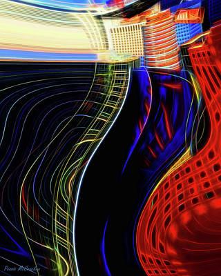 Mixed Media - Wireless Wave by Pennie  McCracken