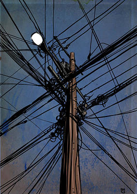 Sky Drawing - Wires 02 by Giuseppe Cristiano