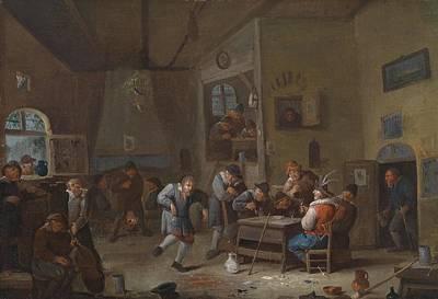 Dutch Master Painting - Wirtshausinterieur by Egbert van Heemskerck
