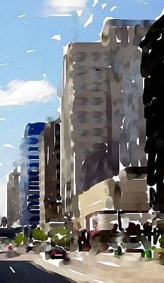 Digital Art - Wisconsin Ave 1 by Anita Burgermeister