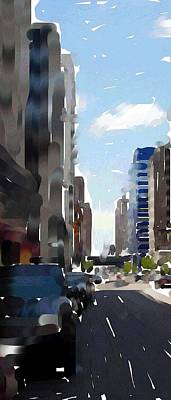 Digital Art - Wisconsin Ave 3 by Anita Burgermeister