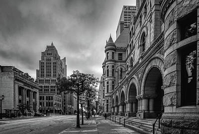 Photograph - Wisconsin Avenue Monochrome by Randy Scherkenbach