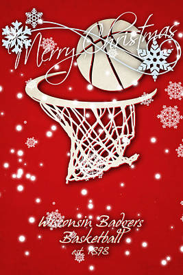 Wisconsin Badgers Christmas Card Art Print by Joe Hamilton