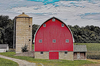 Photograph - Wisconsin Barn by Ericamaxine Price