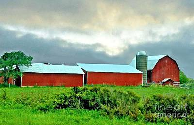 Photograph - Wisconsin Barns And Silo by Janette Boyd
