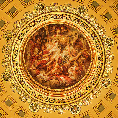 Photograph - Wisconsin Capitol Dome Mural by Steven Ralser
