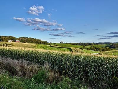 Cornfield Photograph - Wisconsin Cornfields by Mountain Dreams