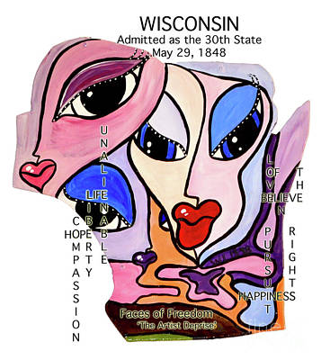 Painting - Wisconsin by Deprise Brescia
