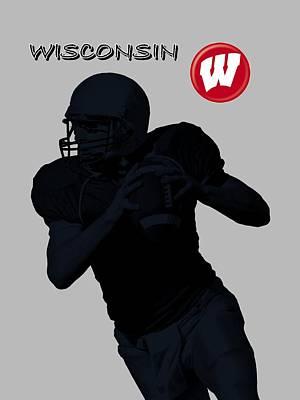 Michigan State Digital Art - Wisconsin Football by David Dehner