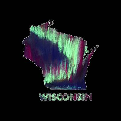 Digital Art - Wisconsin - Northern Lights - Aurora Hunters by Anastasiya Malakhova