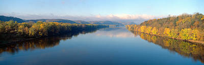 Wisconsin River And Prairie De Chen Print by Panoramic Images