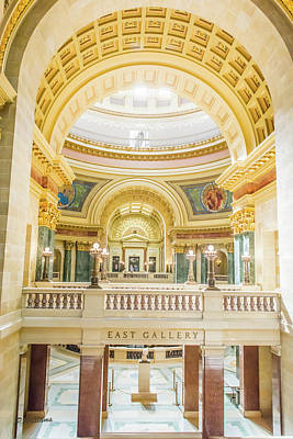 Photograph - Wisconsin State Capitol East Gallery by Pamela Williams