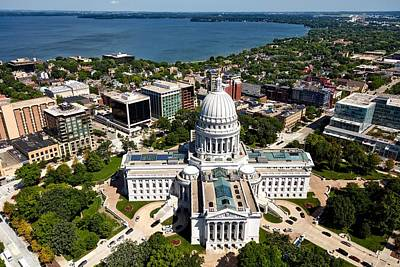 Wisconsin State Capitol - Madison Art Print