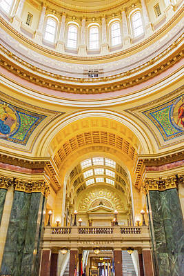 Photograph - Wisconsin State Capitol West Gallery by Pamela Williams