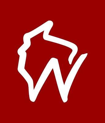 Digital Art - Wisconsin W by Geoff Strehlow