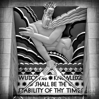 Zeus Photograph - Wisdom And Knowledge - Bw by James Aiken