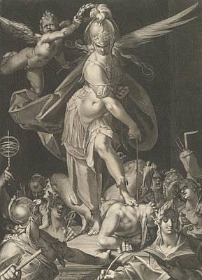 Relief - Wisdom Conquers Ignorance by Bartholomeus Spranger
