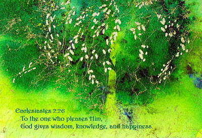Painting - Wisdom Knowledge And Happiness by Anne Duke