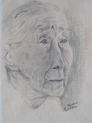 Drawing - Wisdom by Marlene Robbins