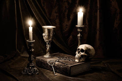 Candle Lit Photograph - Wisdom Of The Ages Still Life by Tom Mc Nemar