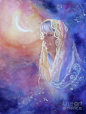 Painting -  Wisdom Of The Waning Moon by Victoria Lisi