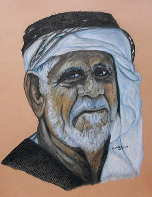 Drawing - Wisdom Portrait by Michelle Gilmore