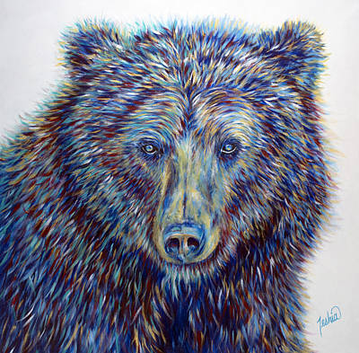 Kodiak Painting - Wise Eyes by Teshia Art