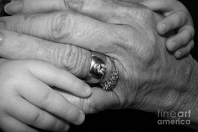 Nana Photograph - Wise Hands by Laura Brightwood