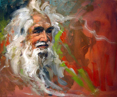 Painting - Wise Old Man by Andrew Judd