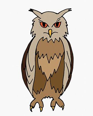 Digital Art - Wise Owl For Kids by Irina Sztukowski