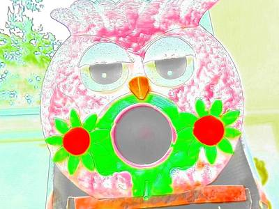 Photograph - Wise Owl In Watercolor by Belinda Lee