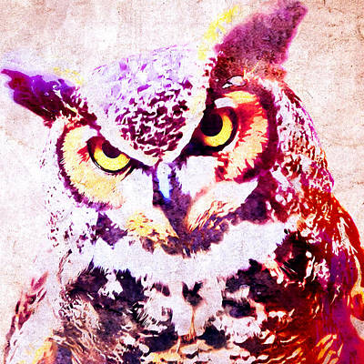 Smart Mixed Media - Wise Owl by Stacey Chiew