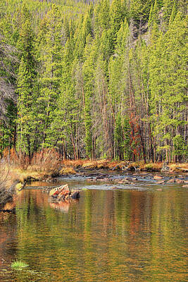 Photograph - Wise River Autumn Reflections Montana by Jennie Marie Schell