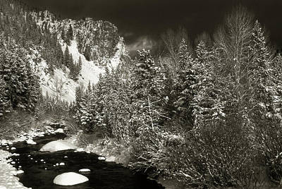 Photograph - Wise River In Winter by Scott Wheeler