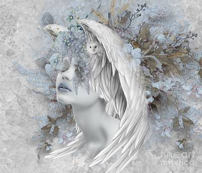 Digital Art - Wise Wings by Ali Oppy